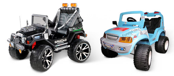 Детские джипы: Peg-Perego GAUCHO SUPER POWER (12V) и Chien Ti CT-885R OFF ROADER с пультом (12V)